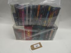 Bag containing quantity of DVD and Blu-Ray films/boxsets