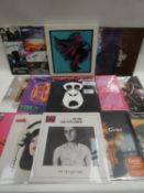 Box containing LP and 45 records to include The Gorillaz, Emma Swift, Gene, Mansun, Queen and others