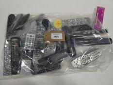 Bag containing quantity of various remote controls