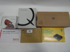BT TV box, EE wireless router, TalkTalk router, Sky Q Mini and Sky router