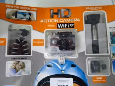 Action camera by Explore One in blister pack