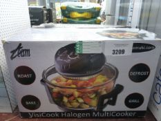 A boxed Daewood halogen air fryer