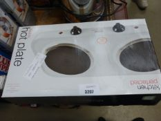 2 boxed double hot plates