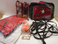 Horse accessories including Cob & Pony bridles, saddle pads, Leg wraps and body cover