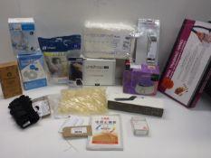 F&P & ResMed face masks, Pocket thermometer, Unisharp fixed needle syringes, Pack of empty capsules,