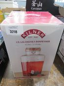 Boxed 8m Kilner glass drinks dispenser