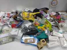 Large bag of household sundries, emergency blankets, microtome blades, Chilly bottle tops, Pooley'