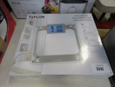 Boxed Taylor digital glass scale