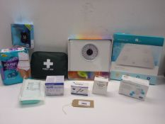 Salter bathroom scales,1 by One wireless smart scales, GlucoMen Areo 2K blood glucose monitor, First