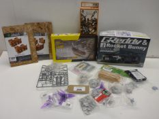 Greedy & Rocket Bunny Toyota 86 model kit, HMS Beagle model kit, Straight Orc Wall packs and other