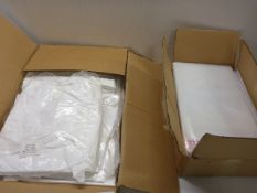 Large box of NHS disposable aprons and large box of self seal plastic bags