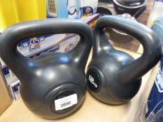 A 12kg kettle bell, plus a 10kg kettle bell