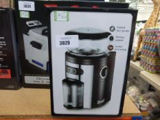 Boxed Dualit coffee grinder, plus a Kitchen Aid 3 in 1 chop and slice set