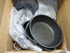 Boxed Kirkland stainless steel cookware set (used)