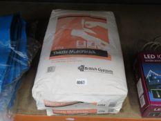 2 bags of multi finish plaster