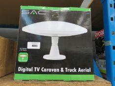 Boxed digital TV caravan and truck aerial