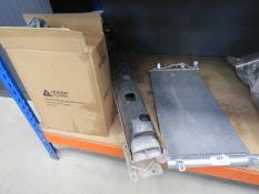 Car radiator, rear bumper part and car cover