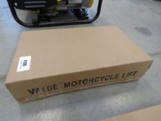 Wide boxed motorcycle lift