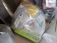 Bag containing vents, tent pegs, sponges, cable clips etc.