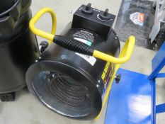 Yellow and black fan heater