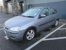 KL04 CTK (2004) Vauxhall Corsa Energy 16v, 5 door hatchback, 1199cc, petrol, in silver, one former