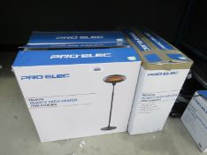 3 Pro-Elec Quartz patio heaters (boxed)