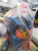 4604 Bag containing puller, flaring tool, tie down straps, wheel wrench, battery charger, oil