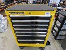4210 Clarke contractor yellow wheeled toolbox