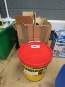 Wonderwipes, first aid kit, and plastic box