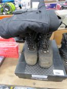 Pair of Helly Hansen used work boots, size 9, and Apache jacket