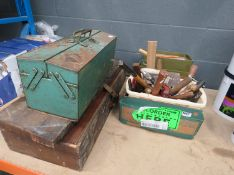 3 assorted toolboxes of assorted tools
