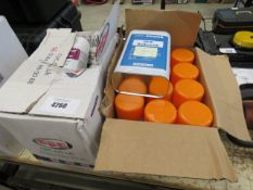 Box of renovator spray, solvent and box of fault detection spray
