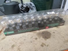 2 boxes of outdoor Festoon party lights