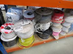 Half bay of assorted cable, approx. 20 rolls