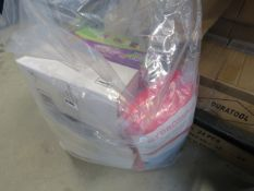 Bag containing fluorescent jackets, spill pads, bags, Point & Paint and other items