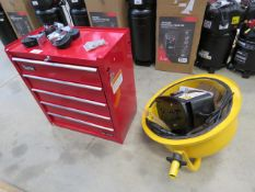 Clarke red tool box complete with wheels