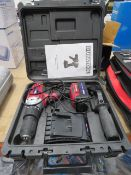 Duratool 18V battery drill with one battery and charger