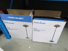 4 Pro-Elec Quartz patio heaters (boxed)