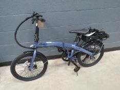 Evo foldup electric bike complete with battery, charger and key