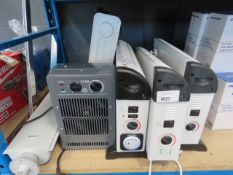 3 convector heaters, fan heater, small oil filled radiator and Dimplex heater