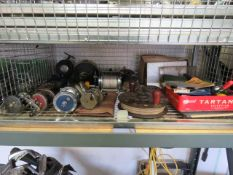 Shelf containing large quantity of mainly vintage fishing reels incl. Dolphin Olympic, Gilder,