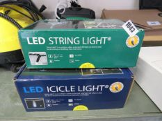 2 boxed sets of ice white LED outdoor lights