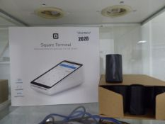 Square payment terminal boxed with spare rolls