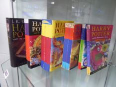 Harry Potter books, 6 books inc. The Half Blood Prince, Goblet of Fire and others
