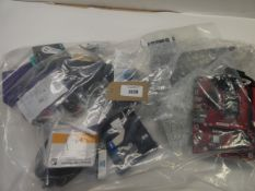 Bag containing quantity of electrical related spare parts, devices, adapters, etc