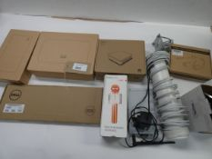 Bag containing Cisco & Huawei routers, Dell keyboard, Omni directional antenna with GEM420 4G