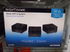 Net Gear Nighthawk mesh wifi 6 system in box