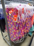 Approx 72 junior Speedos in pink and flower decoration