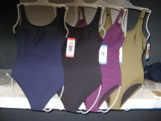 Approx 77 ladies DKNY swimming costumes various colours and sizes