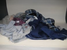 Bag containing gents clothing to inc. shirts, jogging bottoms, thick fleece lined shirt, etc